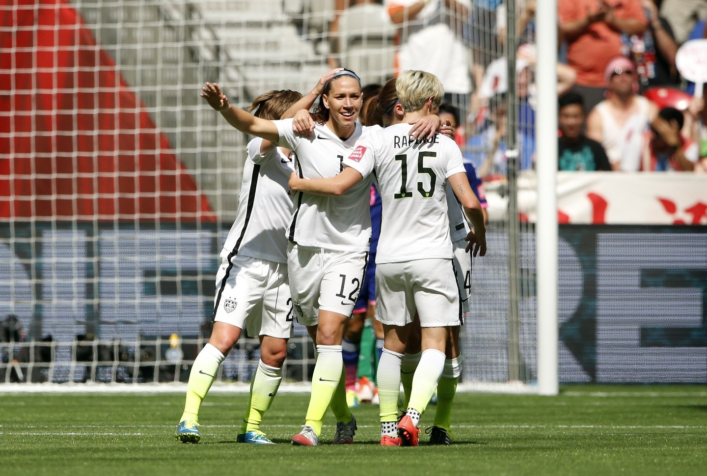 Caught Between A Rock A Hard Place And Several Teammates That Love Her Dearly Photo By Michael Chow Usa Today Sports