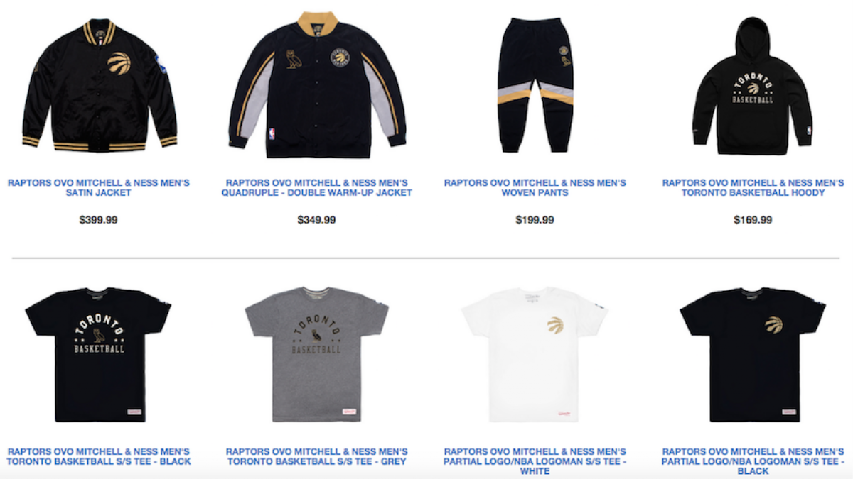 New Raptors Ovo Gear Comes Just In Time For Drake Night Vice Sports