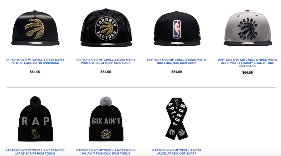 4dbf2d4dd3d Drake recently released new Raptors, OVO Mitchell & Ness clothing, from  jackets and sweatshirts to track pants and toques. Of course there's  mention of the ...