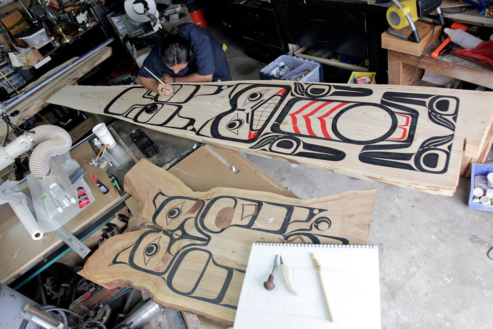 Wood Snowboard With Cool Art Designs