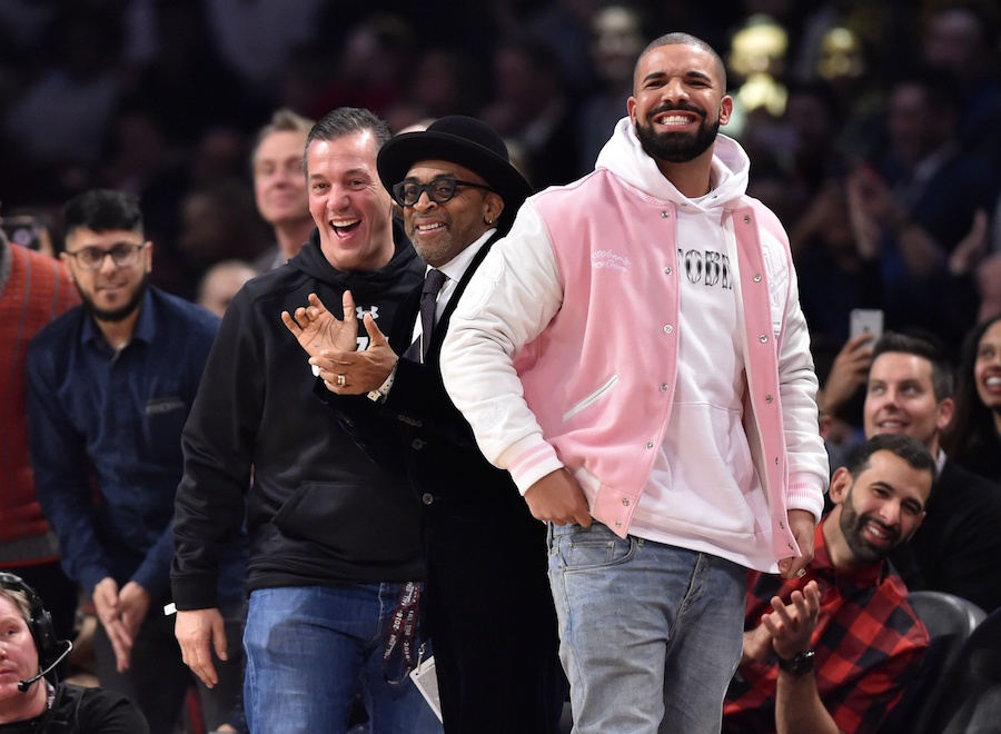 d9479e814495 Drizzy was a man of many jackets this weekend. —Photo by Bob Donnan-USA  TODAY Sports