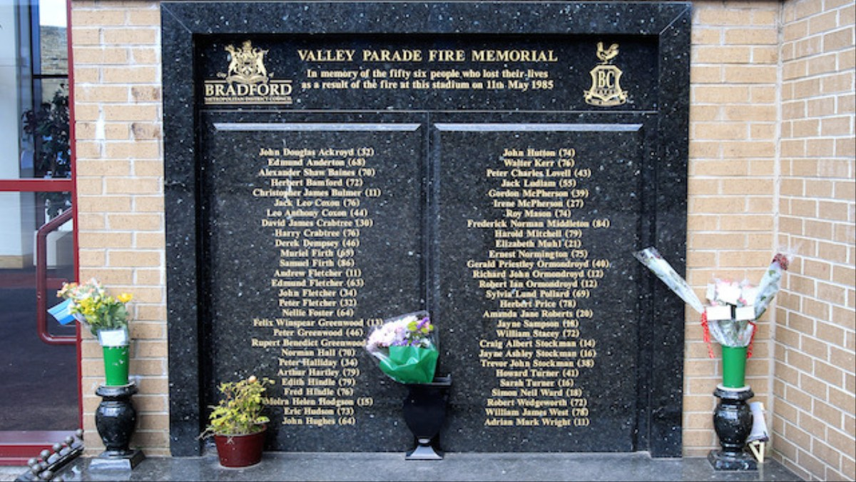 Victims of Bradford Fire Remembered 31 Years on From ...