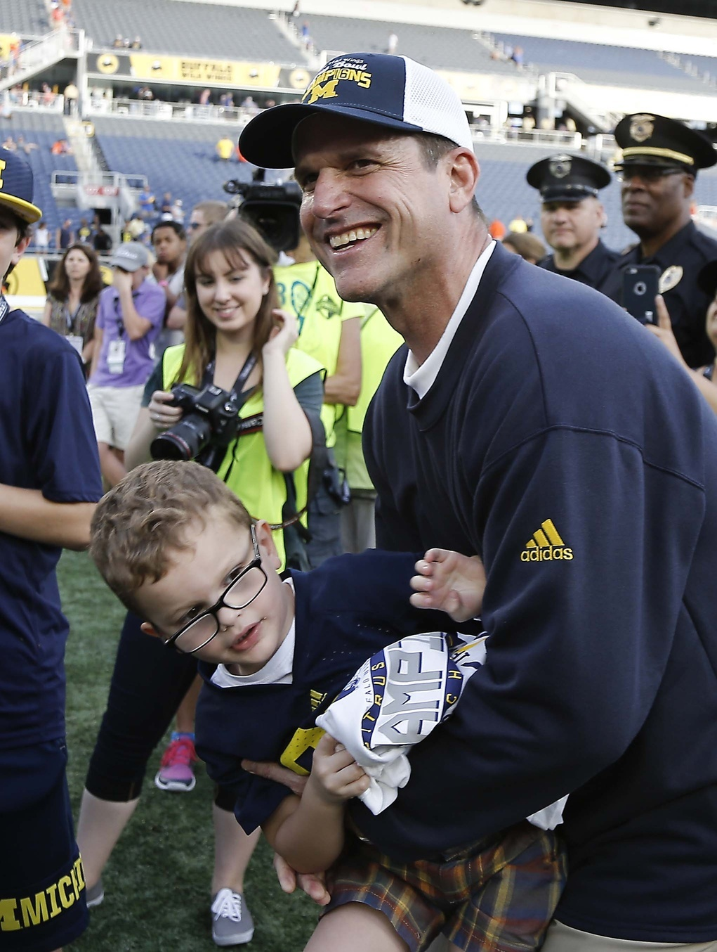 best service 65826 46150 Jim Harbaugh hugs his son Jack, which is not a NCAA rules violation. Photo  by Reinhold Matay-USA TODAY Sports