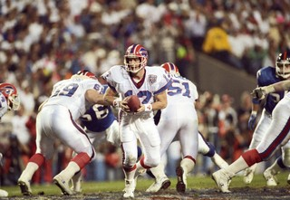 Jim Kelly during Super Bowl XXV. Photo by USA TODAY Sports.