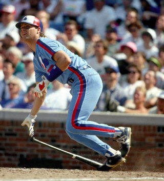 Larry Walker at-bat early in his Montreal Expos career.