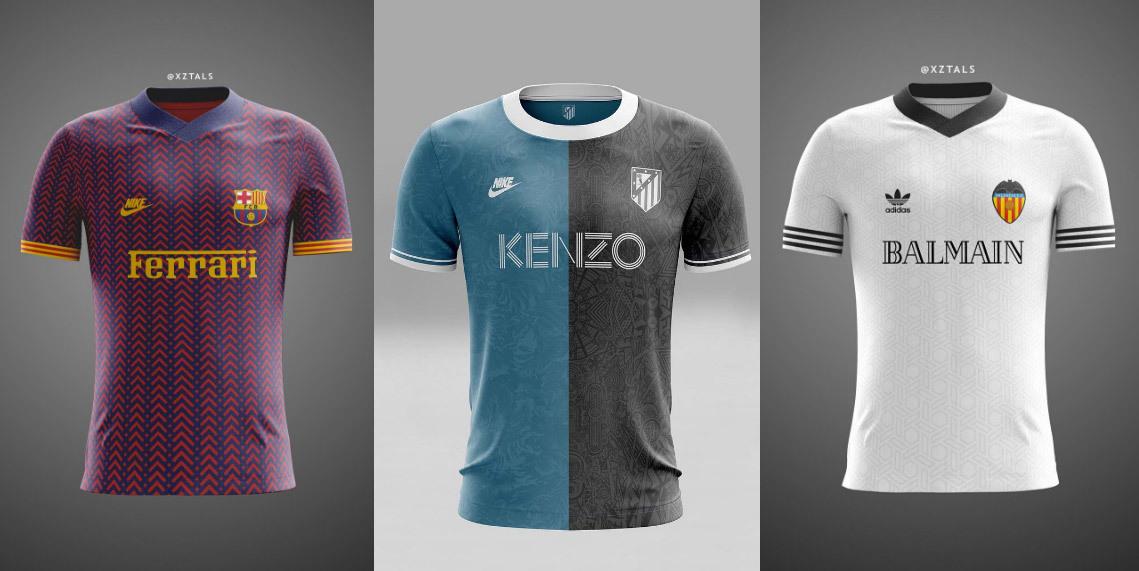 3a05d0b892dac Varios de los diseños inspirados en La Liga y su combinación con marcas.  Imagen vía XTZALS