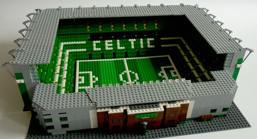 how to make a football stadium out of paper