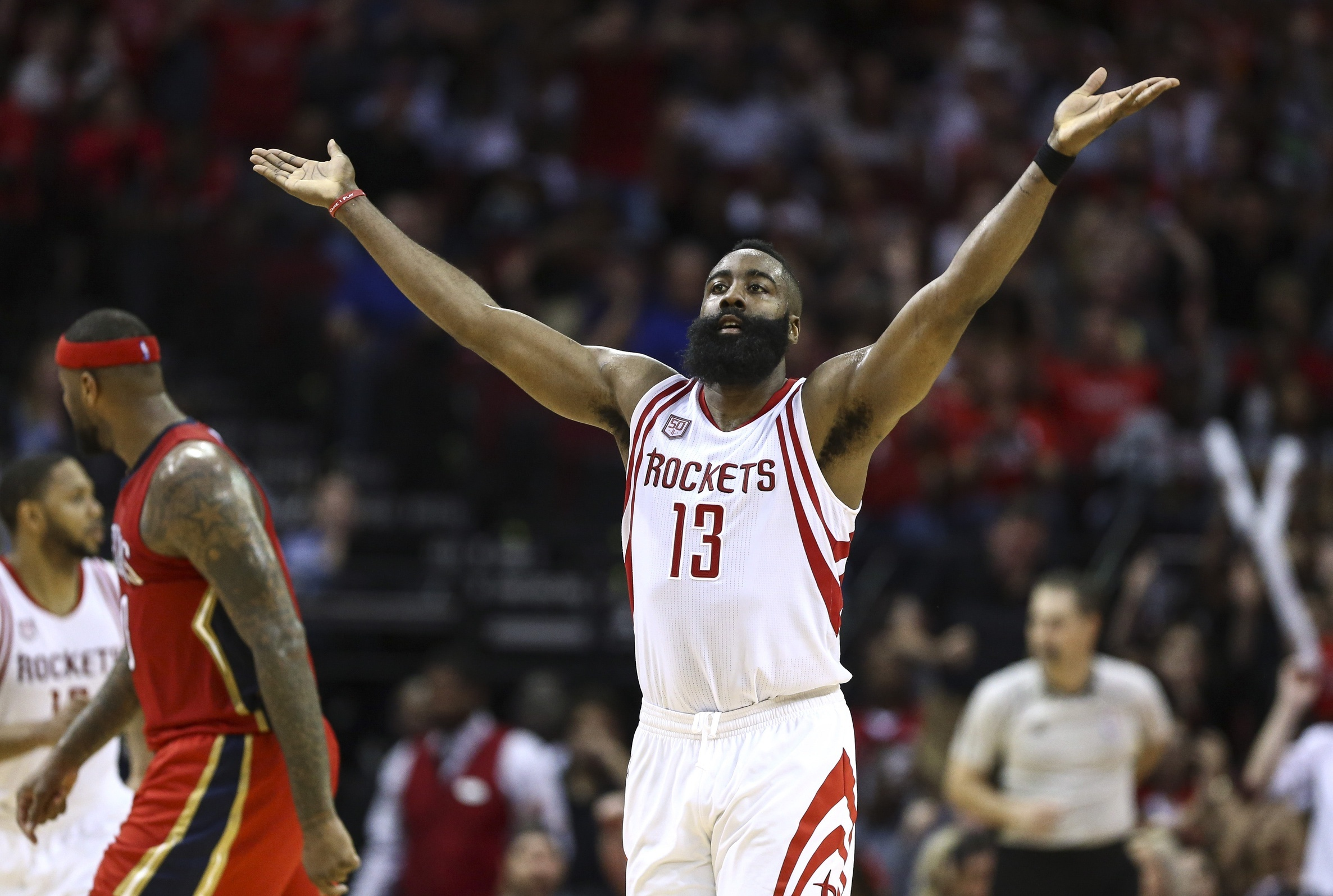 4afab7178 Harden and the Rockets have been putting up threes at an unrelenting pace.  Photo by Troy Taormina-USA TODAY Sports