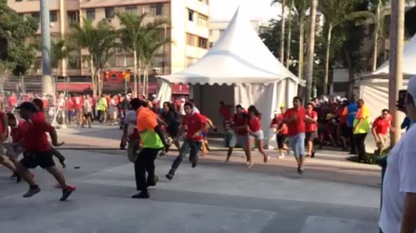 Reasonable Chile Fans Break Down Barrier, Storm Stadium at World Cup