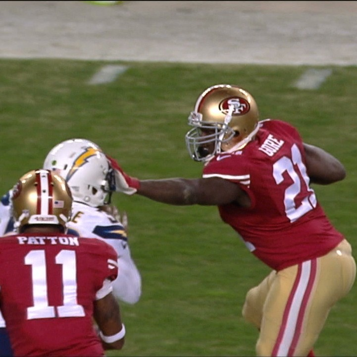 Frank Gore Runs Over Chargers Defense For 52 Yard