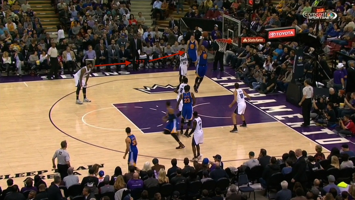DeMarcus Cousins Is Just Hanging Out Watching the Other Team Dunk