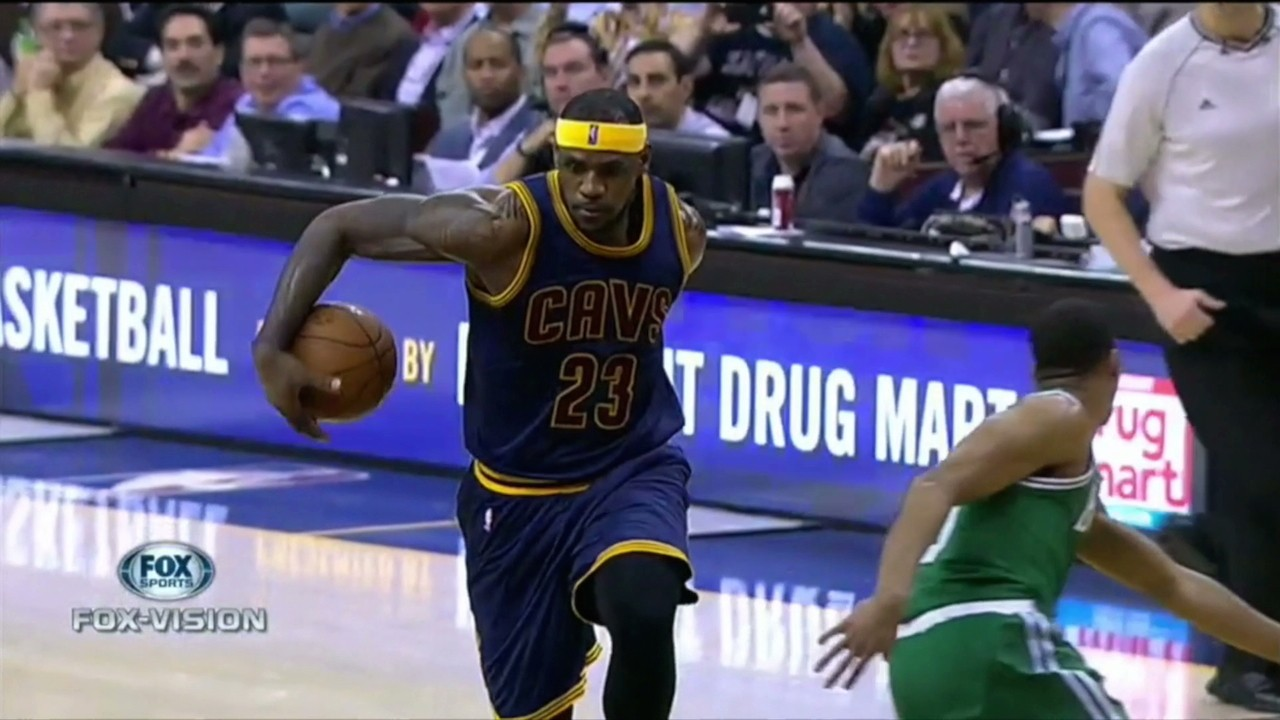LeBron Goes Behind the Back, Little Cavs Fan is Fired Up
