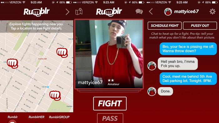 Rumblr, A Tinder-Style App for Street Fighters, Launches Today