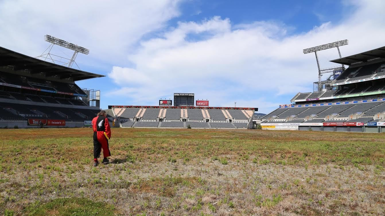 Five Years After the Christchurch Earthquake, Lancaster Park Is Still Broken and Covered in Weeds
