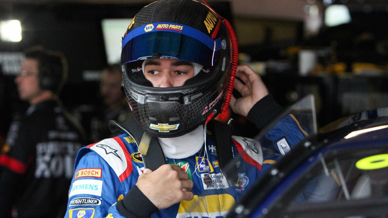 NASCAR Rookie Chase Elliott Has No Problem Holding His Own