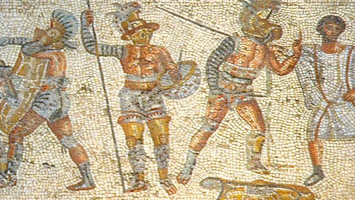 a description of the gladiatorial contest in ancient rome Transcript of ancient roman sports roman pancratium roman boxing sport in ancient rome chariot racing was gladiatorial battles and chariot racing were both.
