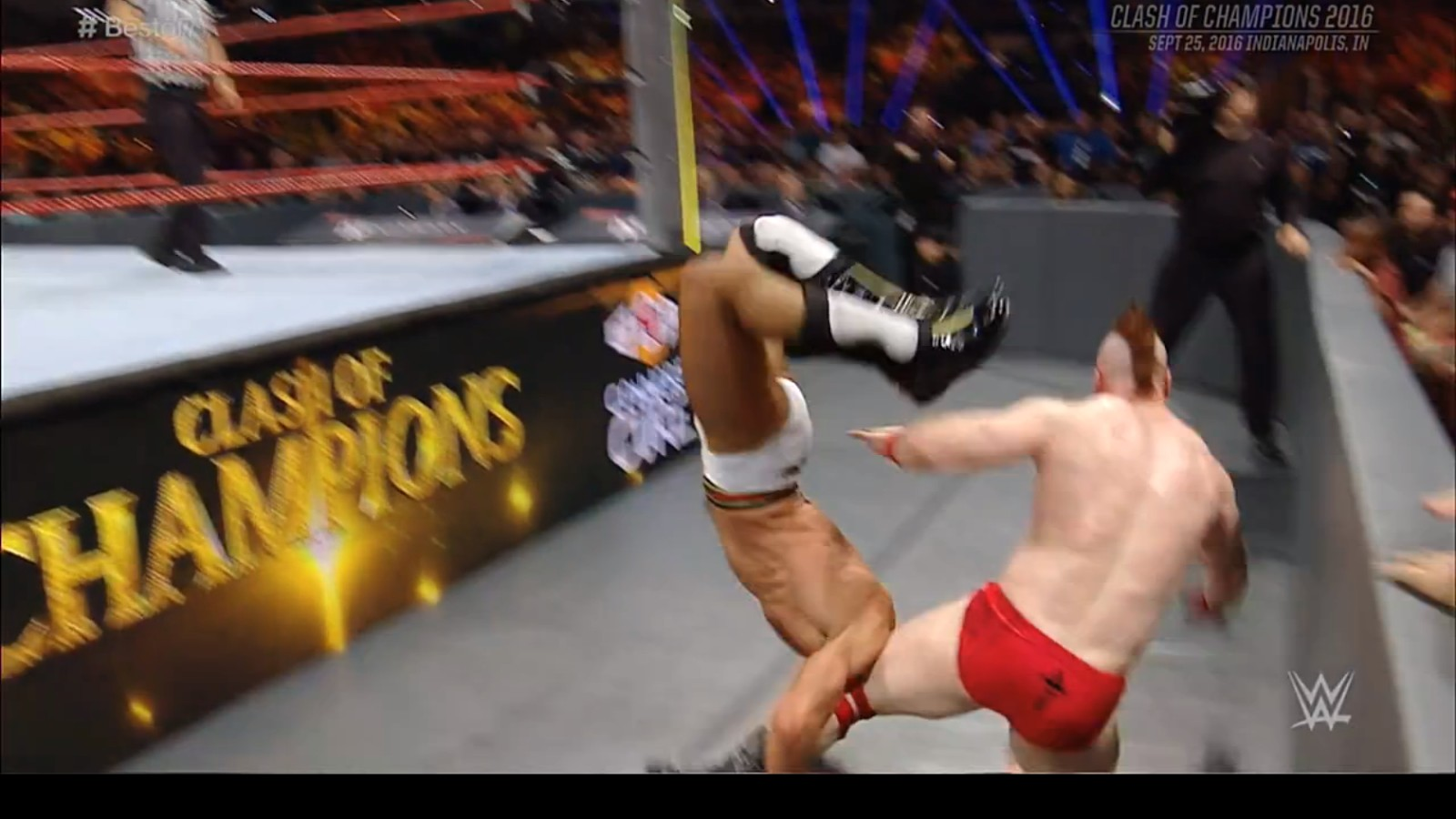 A Plea to Wrestlers: Stop Doing the Suicide Dive So Much