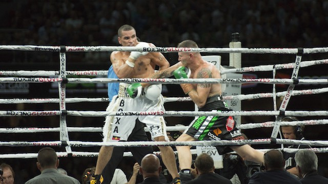 The End Of A Golden Era: Ringside For Green vs Mundine II In The City Of Churches
