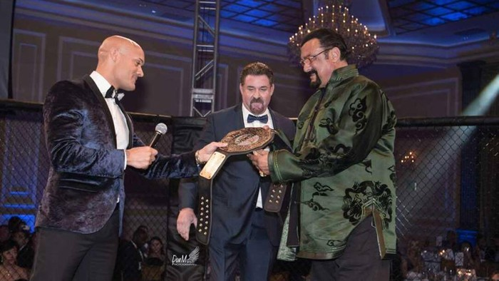 Steven Seagal Receives a Pre-Oscars Honor Against a Backdrop of MMA Fights