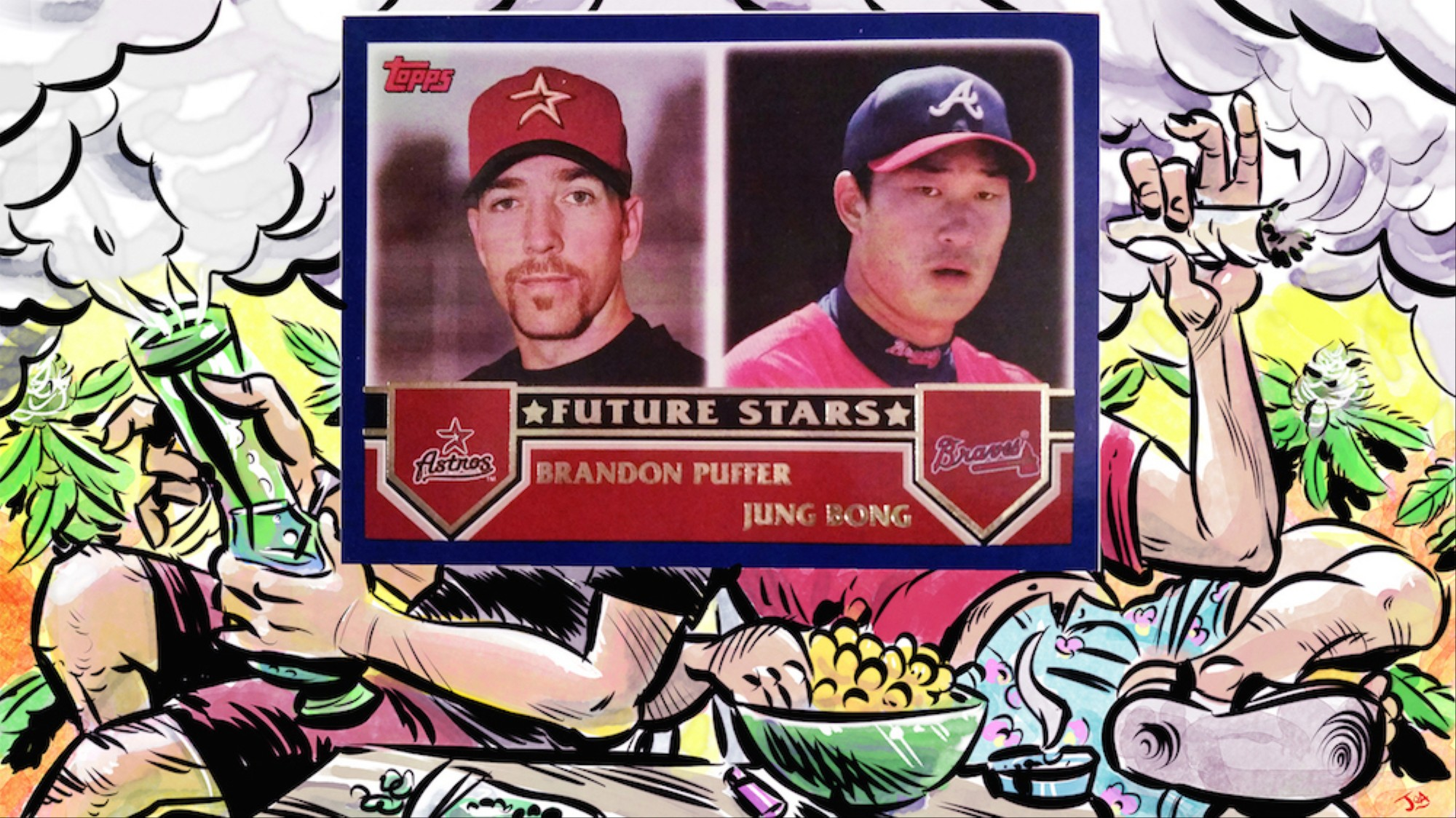 Bong Puffer Forever The Story Of Historys Chillest Baseball Card