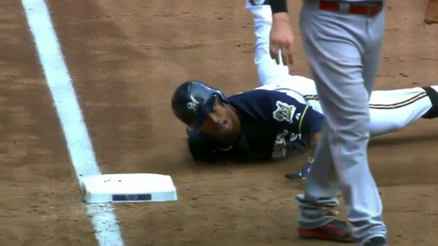 Brewers Shortstop Jean Segura Has Perfected Sliding Into Third Like a Weirdo