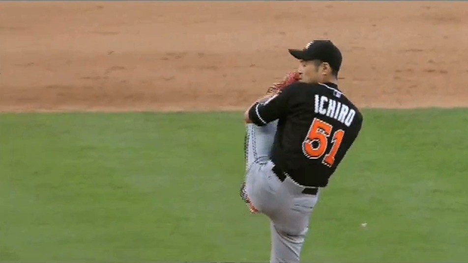 Ichiro Suzuki Makes Major League Pitching Debut