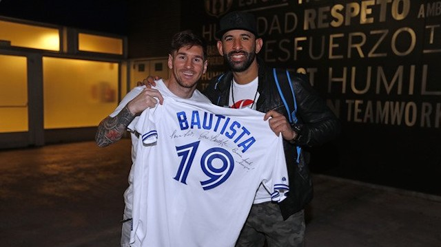 Jose Bautista and Lionel Messi Are the Most Talented Best Friends