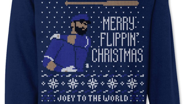 Merry Flippin' Christmas: Bautista Bat Flip Is Now an Ugly Xmas Sweater