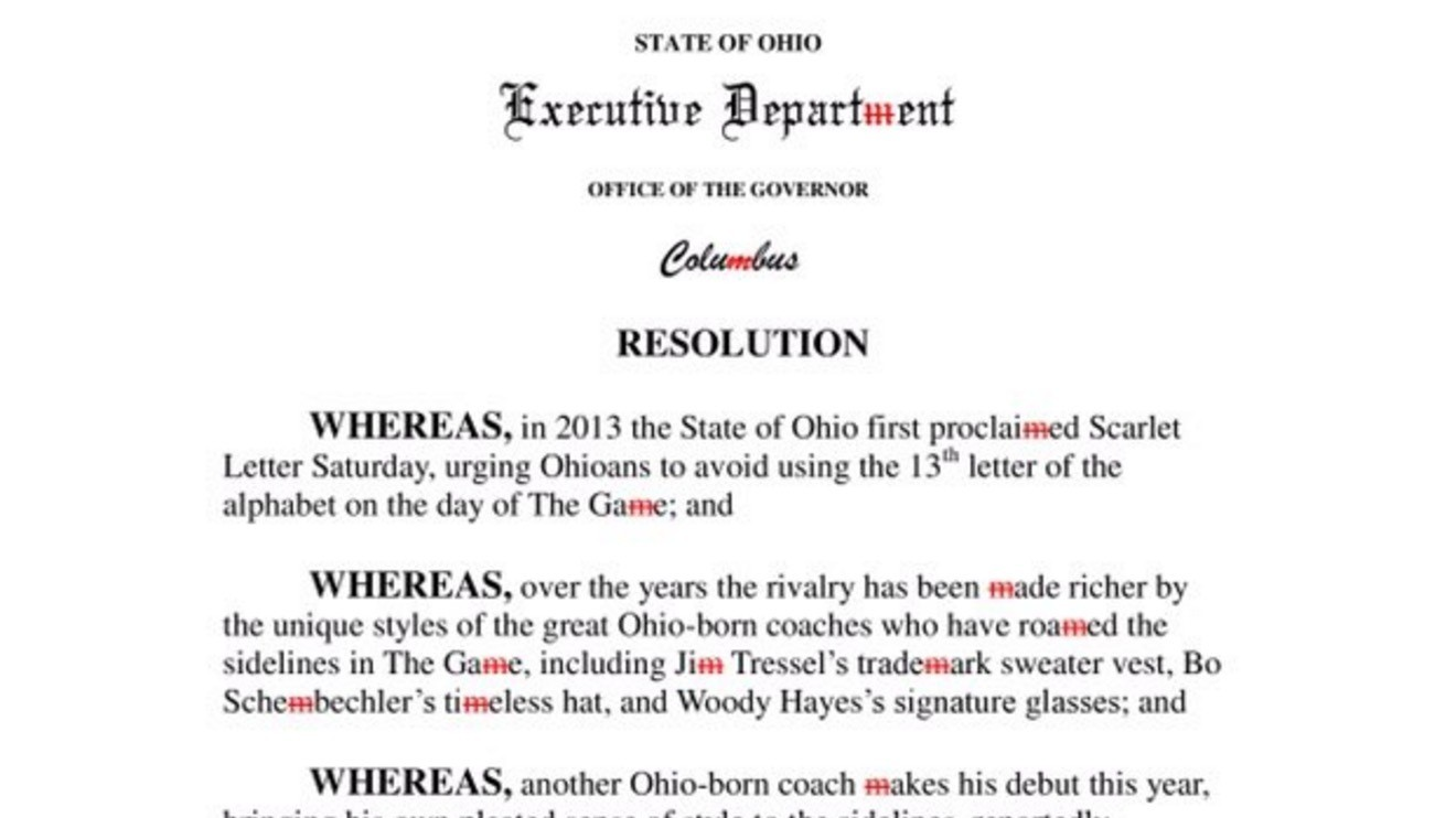 Ohio Governor John Kasich Issues State-Wide Ban on Jim Harbaugh-Style Khakis