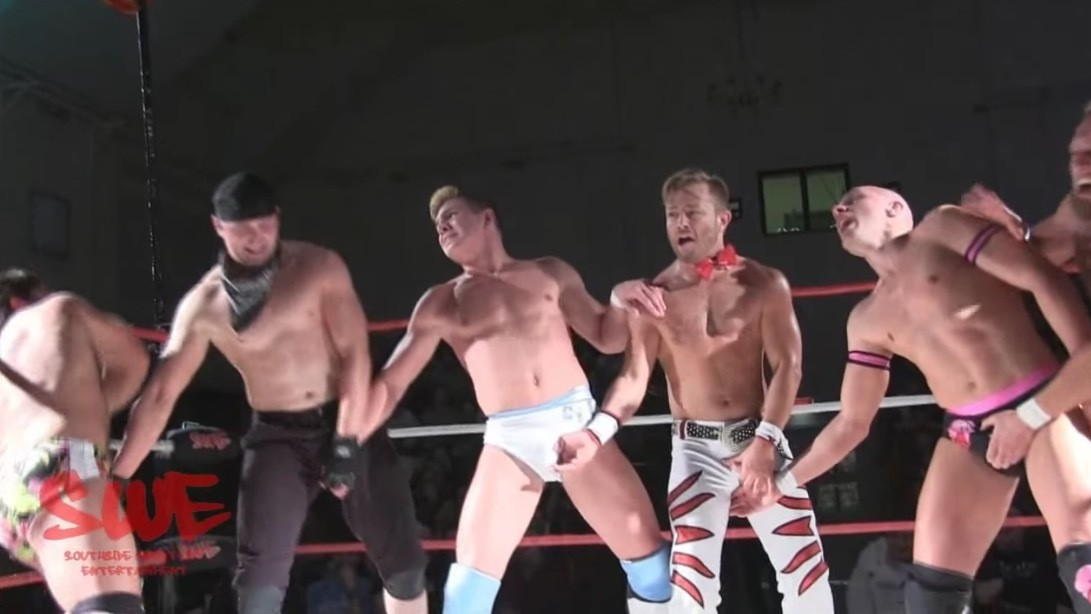 Wrestler Joey Ryan Executes the Elusive Quintuple Dick-Flip