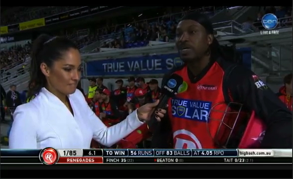 Cricket Star Chris Gayle Hits On Reporter During A Live Interview