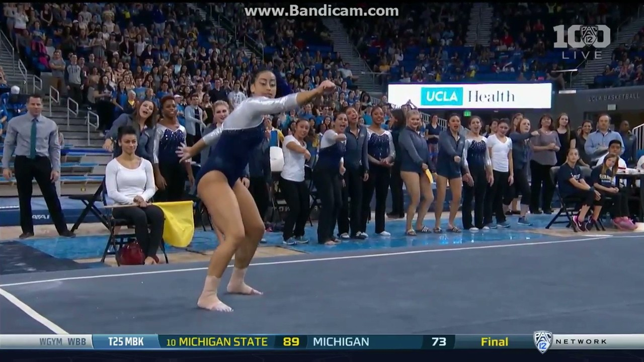 UCLA Gymnast Sophina DeJesus Spices Up Floor Routine with The Quan, Whip, and Nae Nae