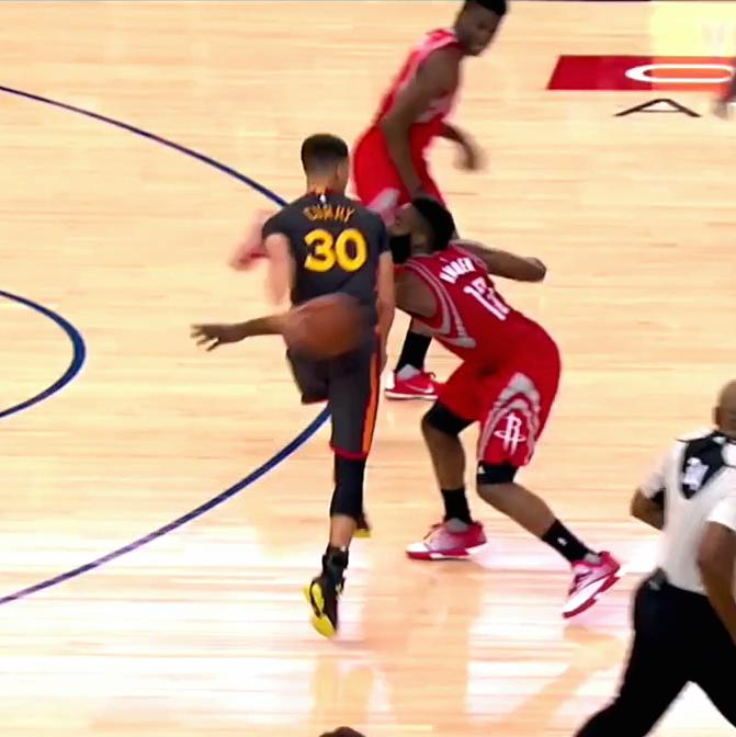 Steph Curry Gets the Steal, Sets off Fast Break with ...