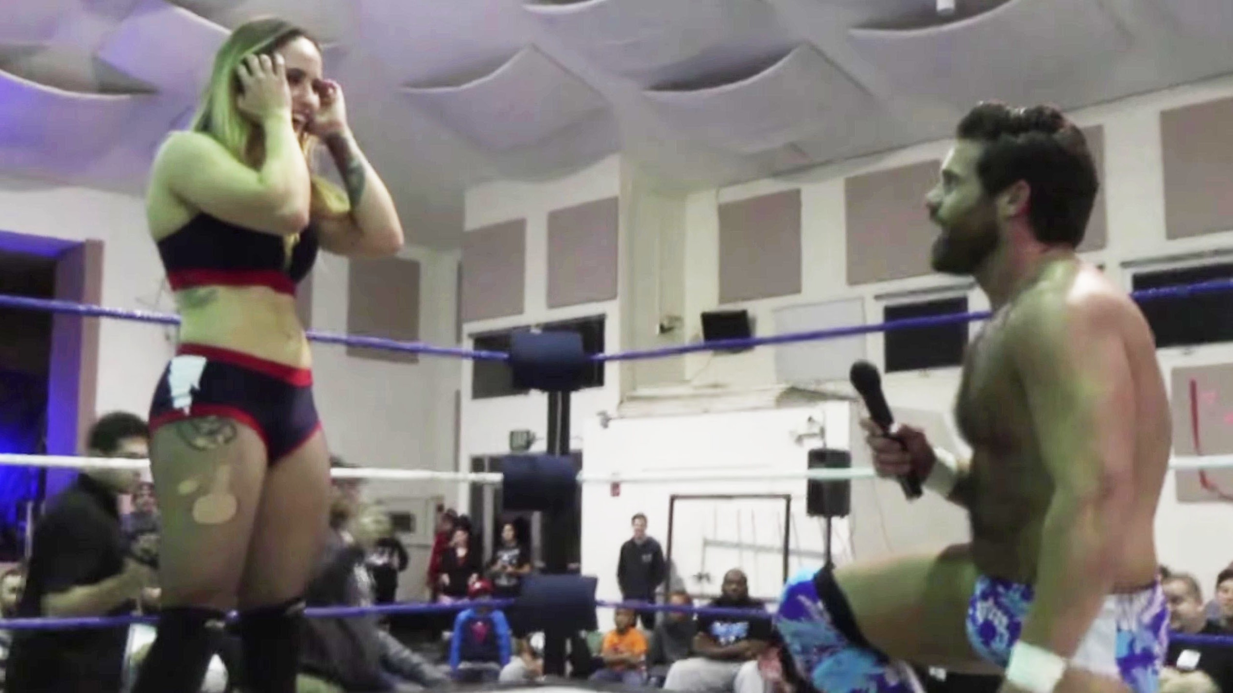 Infamous Dick Flip Wrestler Joey Ryan Proposes to Girlfriend Mid-Wrestling Match, Then Pins Her