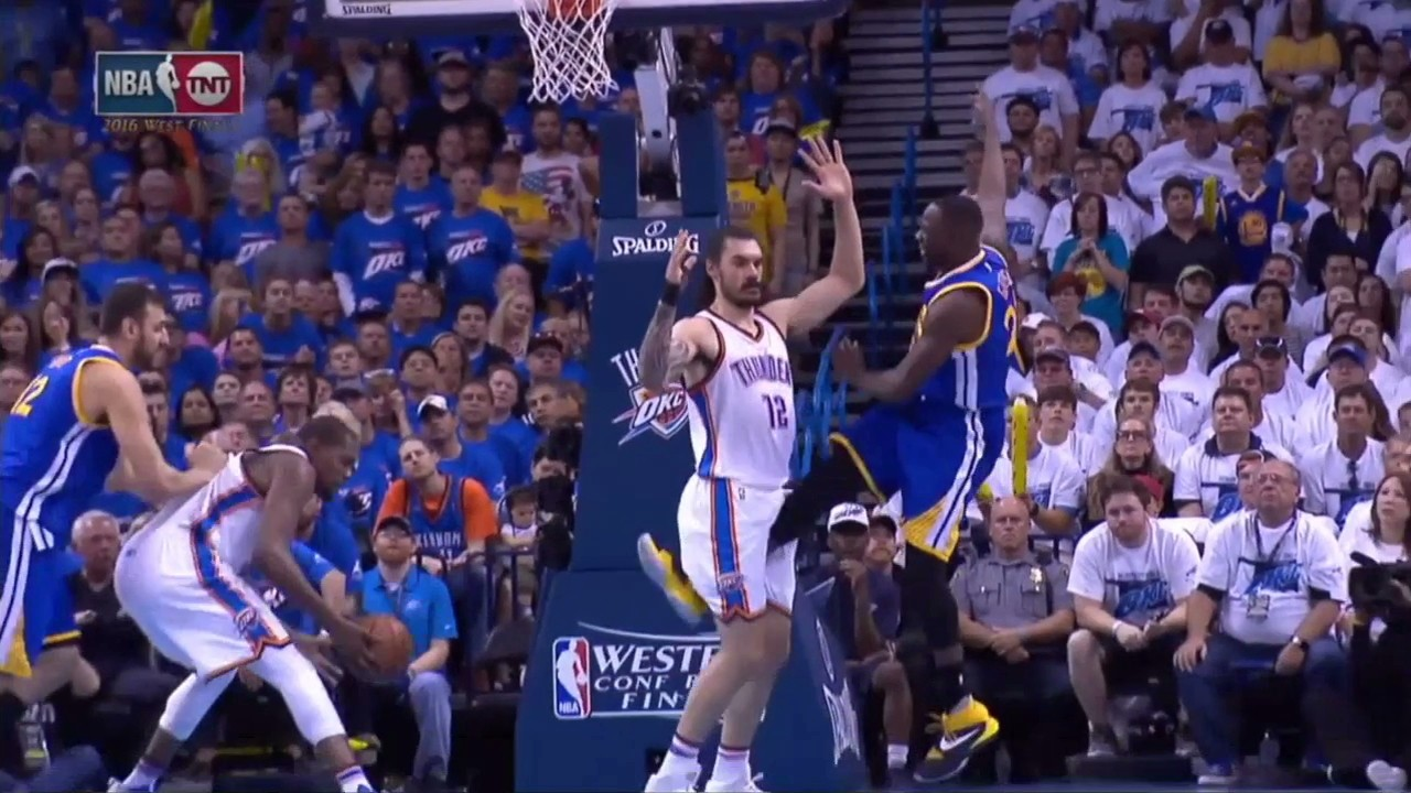 Draymond Green Has a History of Wildly Kicking His Legs Out