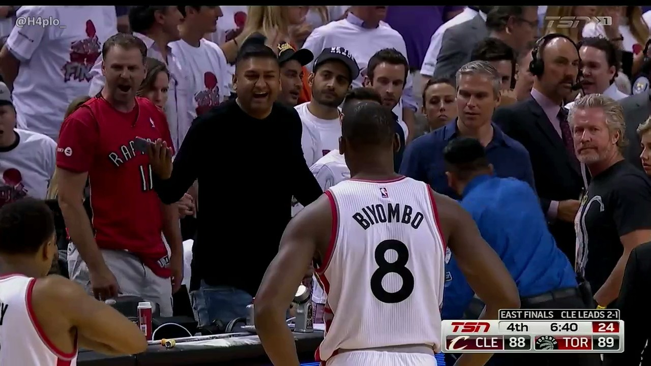 Referees Had to Eject a Fan Because Raptors Fans Were All Over Them Last Night