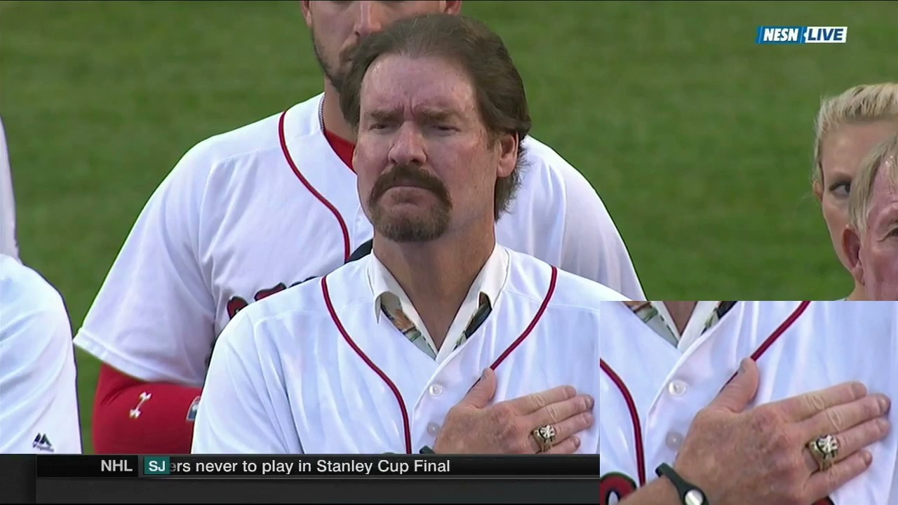 Wade Boggs Wears Yankees World Series Ring to Ceremony in Fenway Park