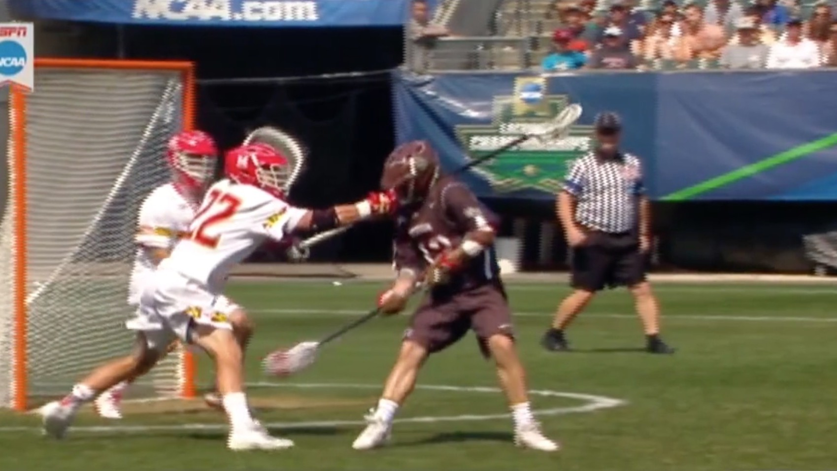 Brown University Lacrosse Player Scores Devious Underhanded Goal