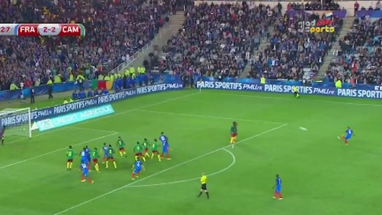 Dimitri Payet's Absurd Free Kick Seals Win for France in Friendly Against Cameroon