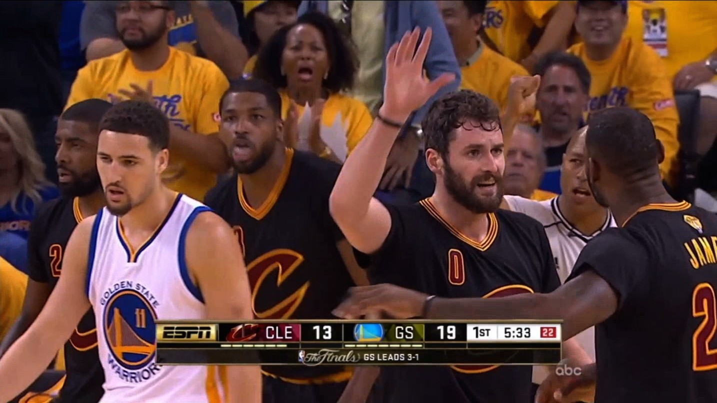 Did LeBron Leave Kevin Love Hanging on a High Five?