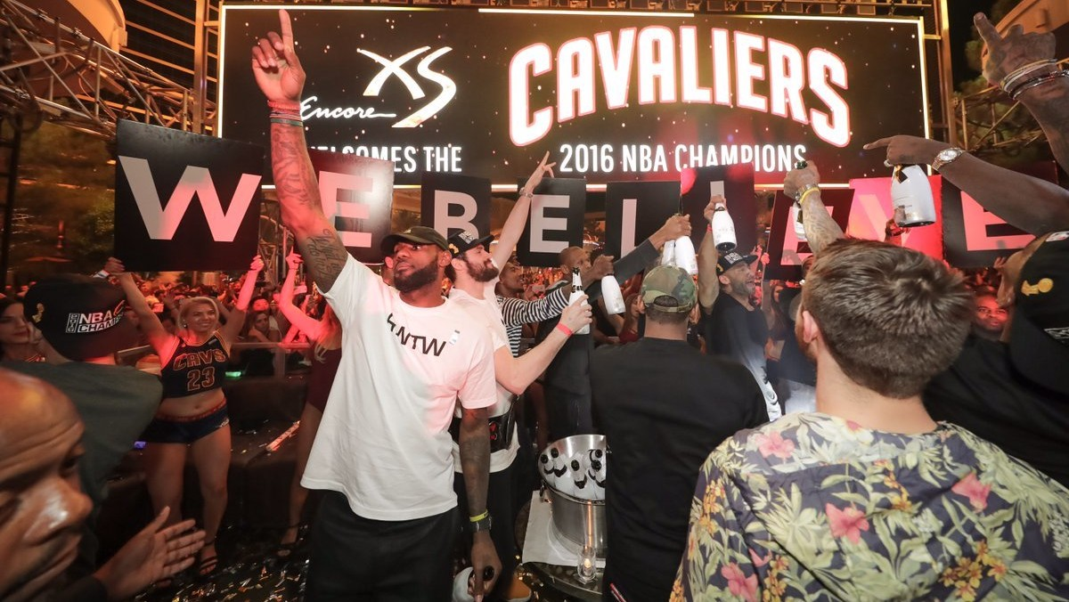 The Cavaliers Celebrated Winning the NBA Finals by Partying All Night in Vegas