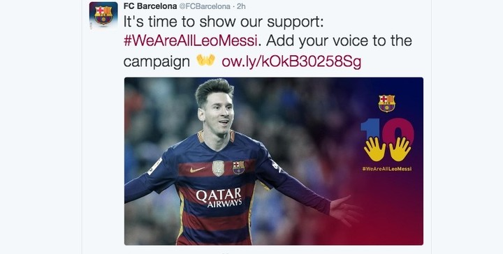 Barcelona FC's Post-Tax Fraud WeAreAllLeoMessi Hashtag Backfires Deliciously