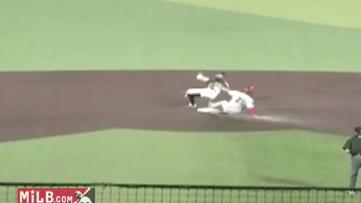 Check Out This Bonkers Double Play from a Minor League Game
