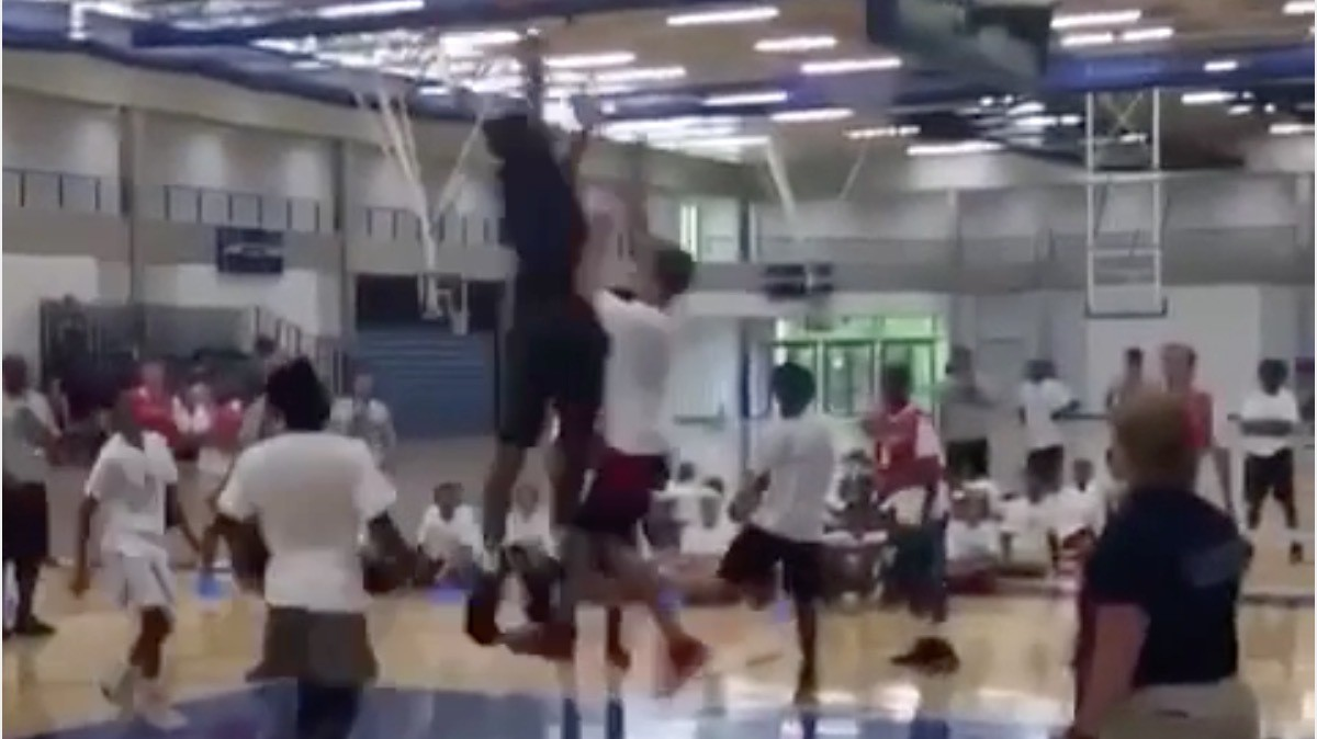 Karl-Anthony Towns Mercilessly Trucks Campers Two Feet Shorter Than Him