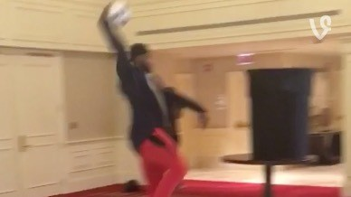 Boogie Cousins, Harrison Barnes, Ribery, and Xabi Alonso Combine on a Keepie Uppie Alley Oop