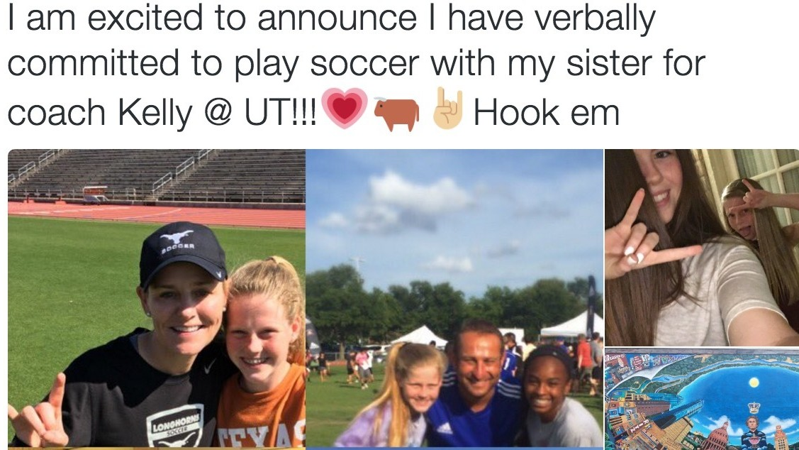 A Seventh Grader Just Verbally Committed to Women's Soccer at University of Texas