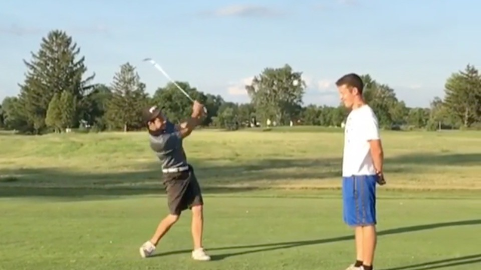 Two Youths Succeed at Happy Gilmore - William Tell Trick Shot