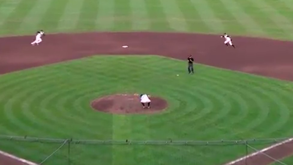 Let's Watch This Ridiculous Double Play and Ponder Our Place in the Universe Together