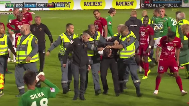 Swedish League Match Abandoned After Masked Pitch Invader Attacks Goalkeeper