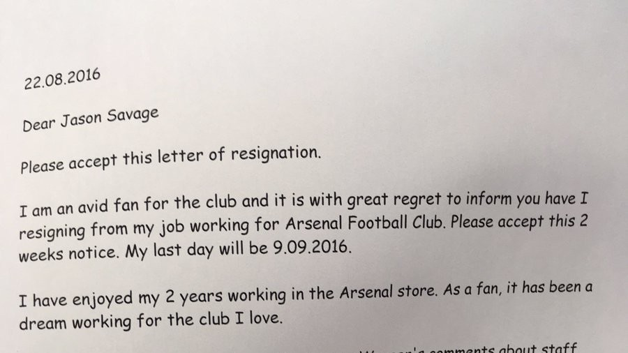 Guy Who Says He's an Arsenal Employee Quits So Arsene Wenger Can Afford to Spend Money on Players
